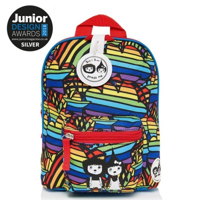 Zip and Zoe Mini Backpack with Reins - Rainbows
